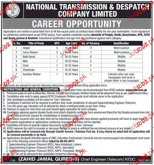 Survey Helpers, Lorry Cleaners, Chawkidars Wanted