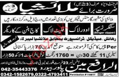 Singer Zippers and Workers required