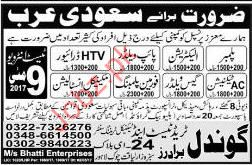 Plumber, Electrician and Driver required