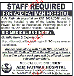 Bio Medical Engineers Job Opportunity