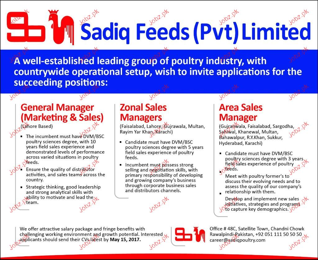 Area Sales Managers, Zonal Sales Managers Job Opportunity