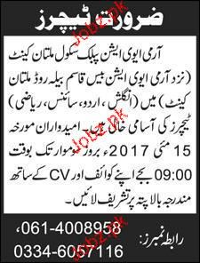 Army Aviation Public School Teachers Job Opportunity