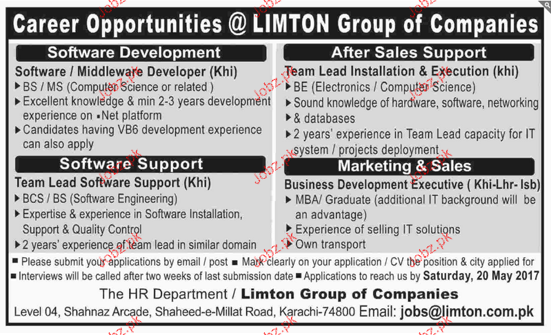 Team Lead Software Engineers Job Opportunity
