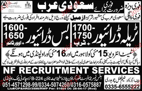 Tralla Drivers and Bus Drivers Job Opportunity