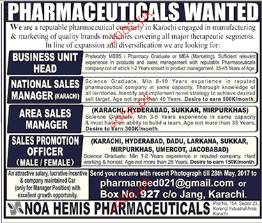 Business Unit Head National Sales Managers Job Opportunity 2019 Job