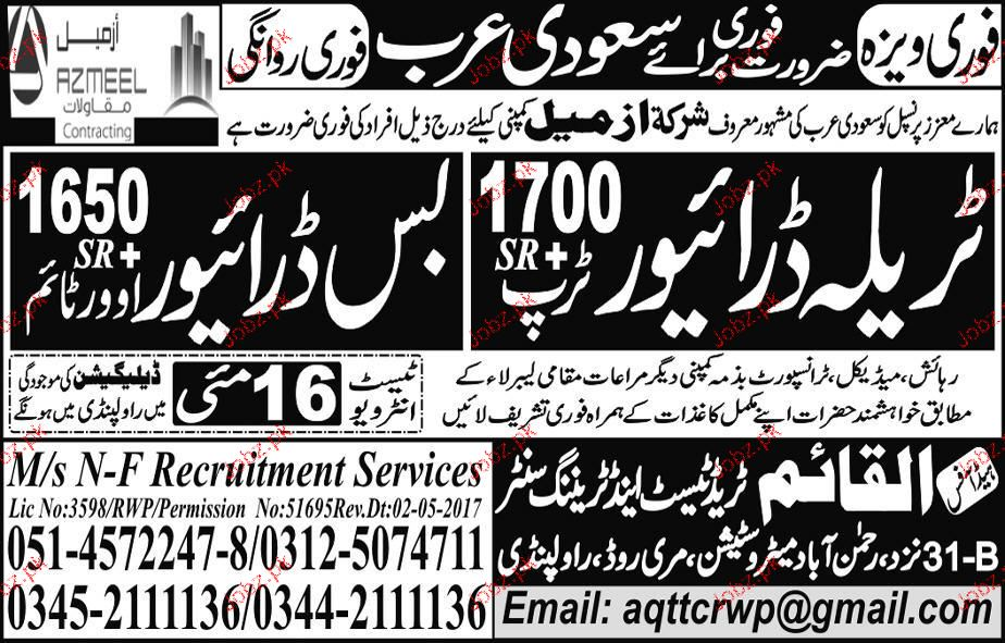 Al Qaim Trade Test and Training Center Required Drivers
