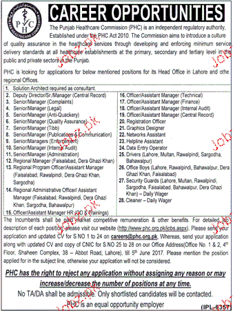Management Jobs The Punjab Health Care Commission PHC