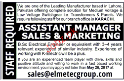Assistant Managers Sales & Marketing Job Opportunity