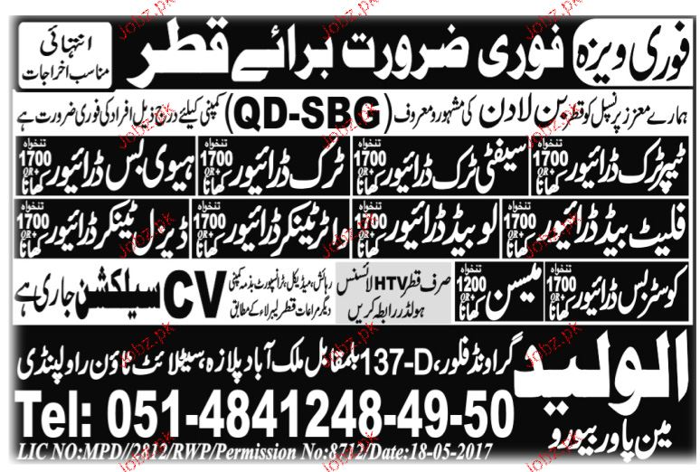 Safety Truck Drivers, Heavy Bus Drivers Job Opportunity