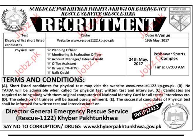 Planning Officer Jobs In Director Rescue Services 1122