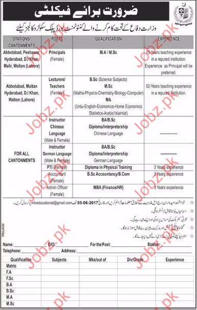 Principal Jobs In Civil Defence Colleges
