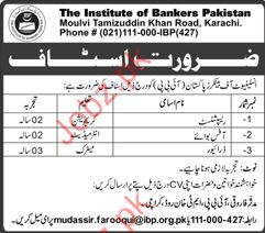 Receptionist Jobs in The Institute of Bankers Pakistan