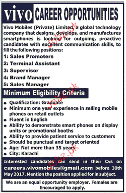 Sales Promoters, Terminal Assistants Job Opportunity