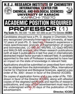 University of Karachi Teaching Jobs
