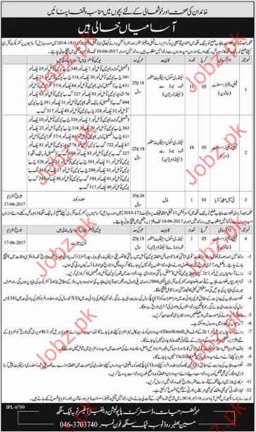 Family welfare assistant Jobs In Health Department
