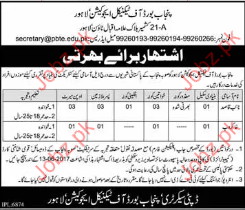 Punjab Board Of Technical Education PBTE Latest Jobs 2019 Job