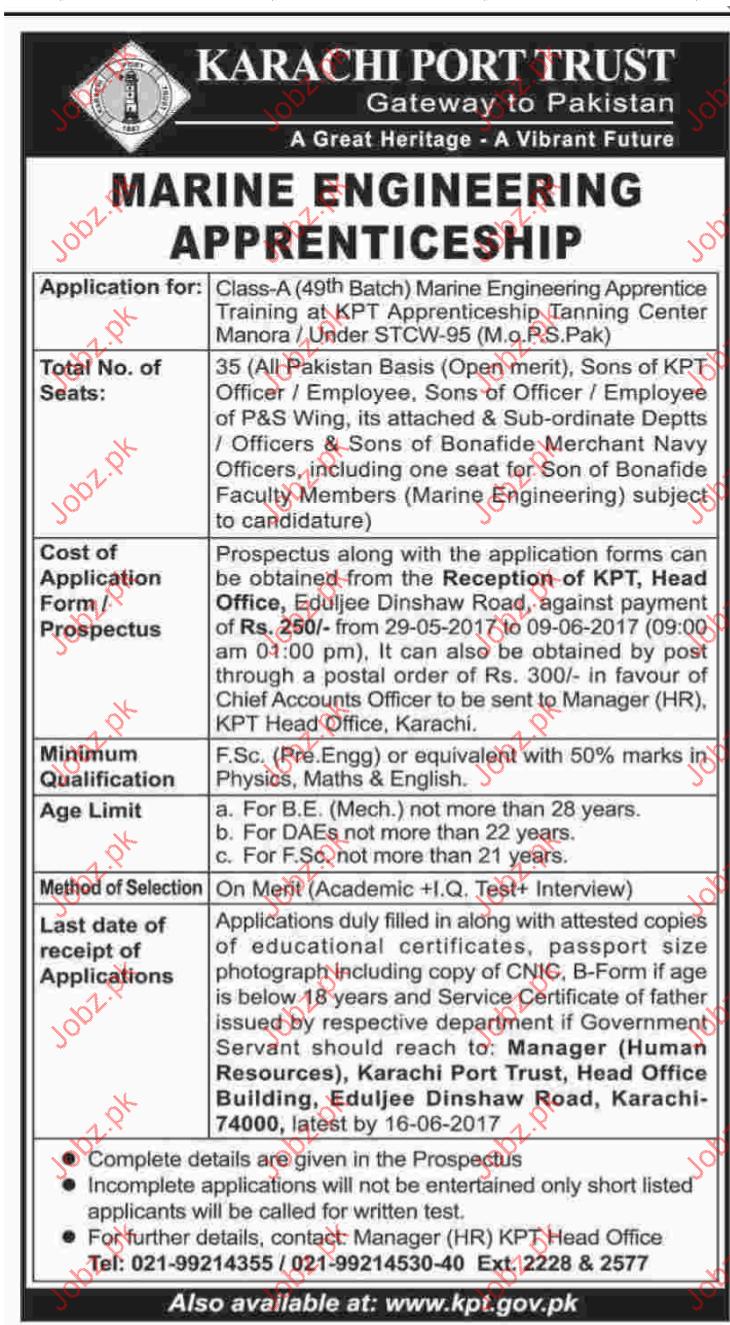 Marine Engineering Jobs In Karachi Port Trust Gateway