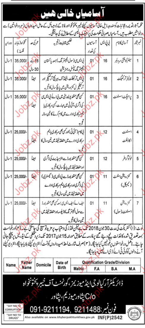 Quantity surveyor Jobs In Archaeological & Museum Department