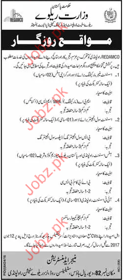 Assistant Manager jobs In Railway Estate & Marketing Company