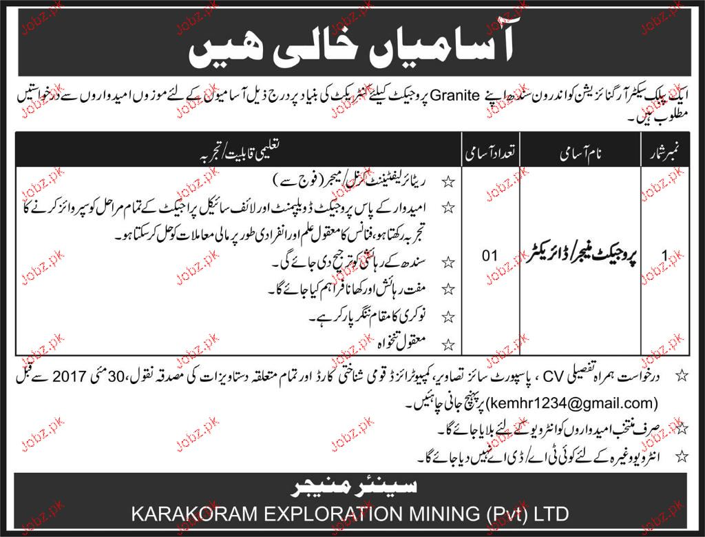 Project Manager / Director Job in Public Sector Organization