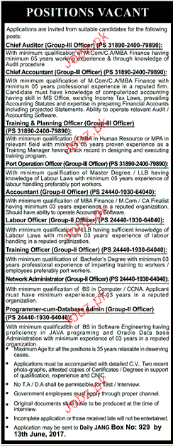 Chief Auditors, Chief Accountant Job Opportunity