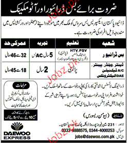 Bus Drivers, Denters, AC Technicians  Job Opportunity