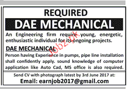 DAE Mechanical Job Opportunity