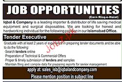 Tender Executives Job Opportunity