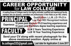 Principal and Teaching Faculty Job Opportunity