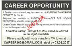 Assistant Manager Exports Job Opportunity