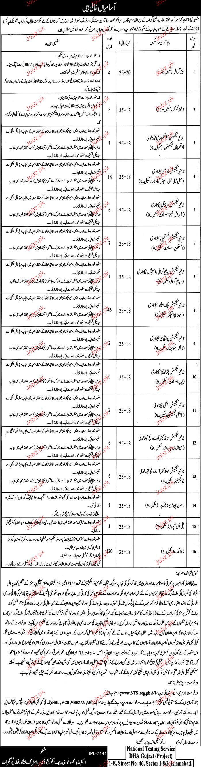 District Health Authority NTS Jobs