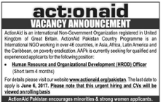Human Resource Jobs In Action Aid