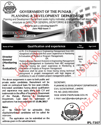 Director General for Planning and Development Department