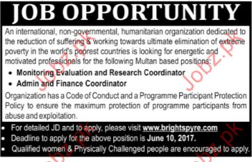 Monitoring Evaluation & Research Jobs