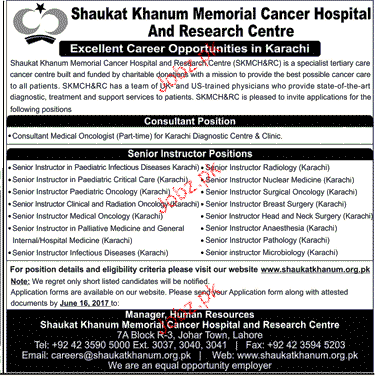 Consultant Medical Oncologists Job Opportunity