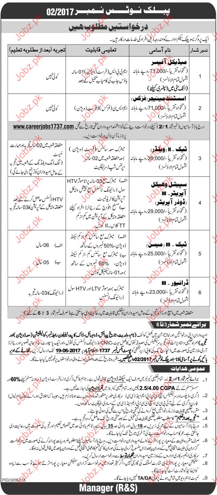 Medical Officer in Jobs Public Sector