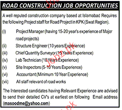 Project Managers, Structure Engineers Job Opportunity