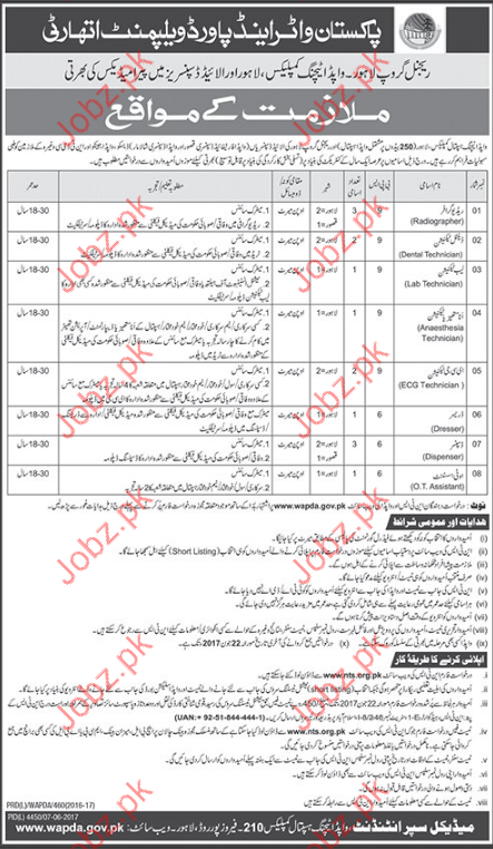 Medical Jobs In Pakistan Water &Power Development  Authority