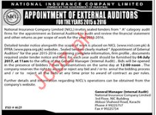 External Auditors Jobs In National Insurance Company