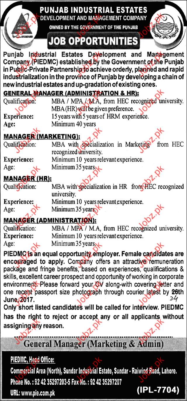 Punjab Industrial Estates PIE Job Opportunities