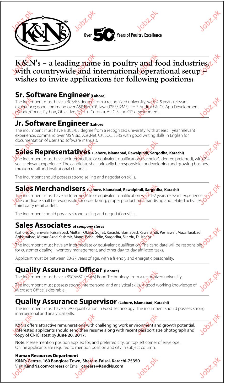 Software Engineer and Sales Representatives for K and Ns