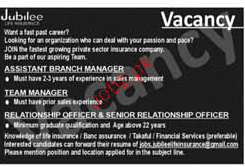 Assistant Branch Manager, Team Manager Job Opportunity