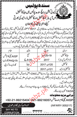Sindh Police Recruitment of Constable Through NTS Test