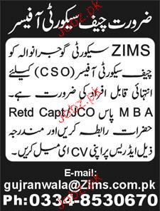 Chief Security Officers Job Opportunity