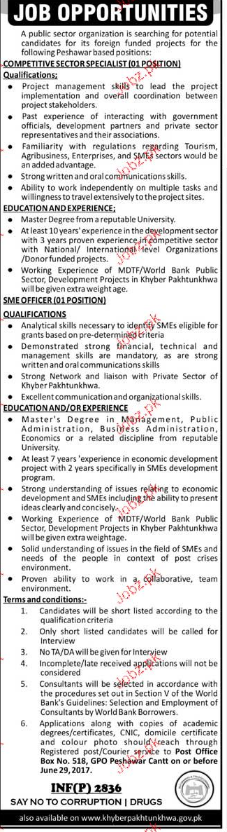 Competitive Sector Specialists Job Opportunity