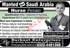 Female Nurse Job Opportunity