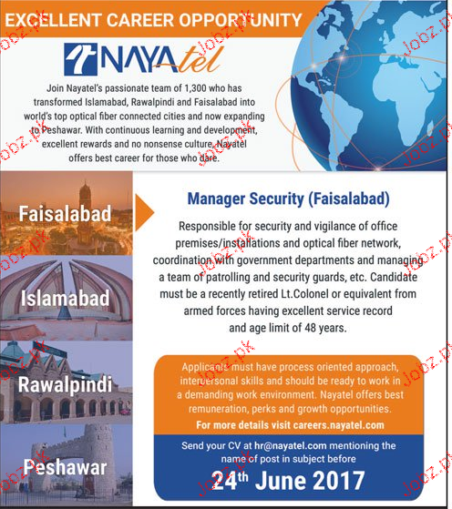 Manager Security Job Opportunity