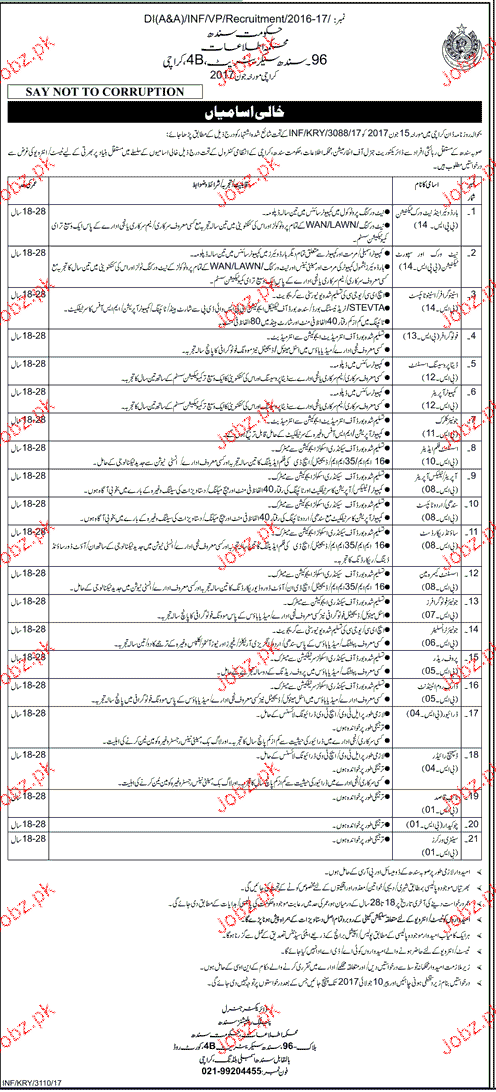 Ministry of Informtion and Broadcasting Job 2017