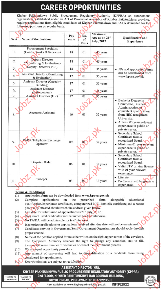 Procurement Jobs In Public Procurement Regulatory Authority