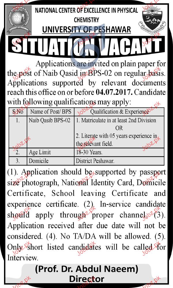 University of Peshawar  UOP Career Opportunity